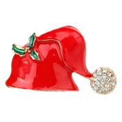 ZHOUBA Fashion Christmas Gloves/Hat Shape Brooch Pin Women Dress Bag Scarf Jewellery