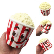 Big Popcorn Cup Scented Squishy Toys, HOMEBABY 13cm Slow Rising Squeeze Toys Cream Scented Decompression Toys Fun Toy Gift Kids Soft Toy Jumbo Collection Easter Gift Phone Strap