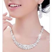 Minshao Crystal Bridal Jewellery Sets Hotsale Necklace+earrings Jewellery Wedding