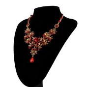 Minshao Charm Prom Wedding Bridal Jewellery Crystal Rhinestone Necklace Earring Set