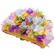Moresave Ladies Flower Long Hair Care Bath Cap Hat Women Casual Sports Swimming Hat