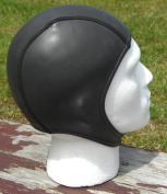 Open water swim swimming cap. 2mm smoothskin ultra stretch neoprene. Covers ears