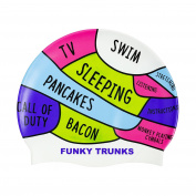 Funky Trunks – Brain, Silicone Swim Cap