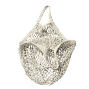 Reusable Grocery Produce Bags Cotton Mesh Ecology Market String Net Shopping Tote Bag Kitchen Fruits Vegetables Hanging Bag White