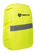 Case4Life Yellow Waterproof High Visibility Reflective Rucksack Backpack Cover - Lifetime Warranty