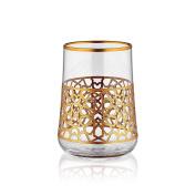 Aheste Coffee Side Glass - Star - Gold
