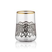 Aheste Coffee Side Glass - Seljuq - Black