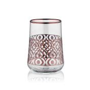 Aheste Coffee Side Glass - Ikat - Rose