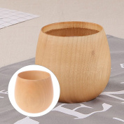 Jiamins 1Pc Vintage Handmade Wooden Tea Cup Milk Beer Coffee Mug Great Home Decor