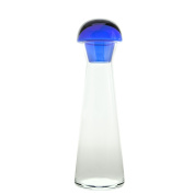 Bohemian Glass Bottle with Stopper, Glass, 39 x 4 x 12 cm
