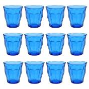 Duralex Picardie Coloured Water Tumbler Glasses - 250ml - Blue - Pack of 12