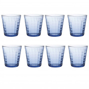 Duralex Prisme Water / Juice Tumbler Glasses - 275ml - Blue - Pack of 8