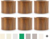 DII Napkin Rings for Weddings, Dinners, Parties, or Everyday Use, Set of 6, Wood Band