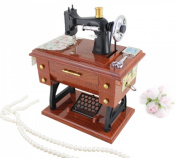 Antique Sewing Machine Wind Up Box, Made to look like an antique sewing machine By Music