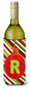 Christmas Oranment Holiday Initial Letter R Wine Bottle Beverage Insulator Beverage Insulator Hugger
