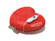 KooZzzi 549012 Heated Cushion Pillow in Romantic Hearts Design For Cosy Moments