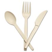 Baumgartens 10231 Corn Starch Cutlery Fork White 100/Box