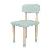 FLEXA Children Chair Play with Backrest and Legs From Sustainable Ash Wood in mint green with a Seat Height Von 30cm, Robust Sitting Area for Children, with Rounded Elements for more Security