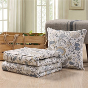 Air-conditioning is pillow quilt two use a large pure cotton multi-fold cushion by a car office afternoon nap small pillow ,50X50, Suit