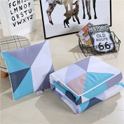 Air-conditioning is pillow quilt two use a large pure cotton multi-fold cushion by a car office afternoon nap small pillow ,40X40, lake blue