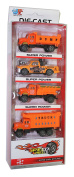 Speed Wheels Alloy Die Cast Construction & Dump Trucks Toy Cars 4pcs for Childrens Birthday & Christmas Present Gift