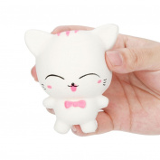 VENMO Kawaii White Cat Slow Rising Squishies Scented Stress Ball Squeeze Toys Kitten For Kids Adults