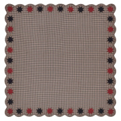 VHC Brands Carson Star Scalloped Table Cloth