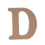 Shiningup Free Standing Craft DIY Combination Warm Original Wooden Colour Wood Letters And Numbers Wall Home Office Wedding Party Decoration