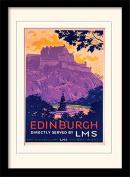 "National Railway Museum ""Edinburgh (2)"" Mounted and Framed Print, Multi-Colour, 30 x 40 cm"