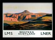 "National Railway Museum ""Western Scotland (1)"" Framed Print, Multi-Colour, 30 x 40 cm"