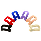 10 pcs Mini Flocking Anti-Clip Space Save Clothes Hanger