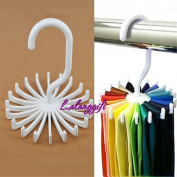 ODN Rotating Tie Rack Adjustable Belt Scarves Hanger Holder Neck Ties Organiser