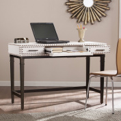 Southern Enterprises Kapri Nailhead Writing Desk, White