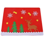 RainBabe Christmas Elk Tree Suit Table Mats Cutlery Holder Decoration for Party Dinner