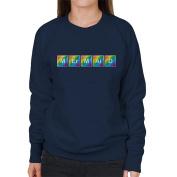 Cloud City 7 Mermaid Chemical Symbols Women's Sweatshirt