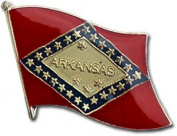 Arkansas Flag Lapel Pin