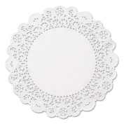 Hoffmaster Brooklace Round 13cm Lace Doilies, White, 2000 count