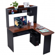 Corner Computer Desk L Shaped Workstation Home Office Student Furniture