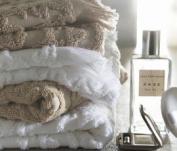 Blanc des Vosges Princess Bath Towel Cotton 110 x 55 cm White