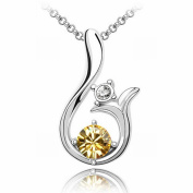 Austrian Crystal Necklace - Sun High-End Plated White Gold Pendant Items , gold