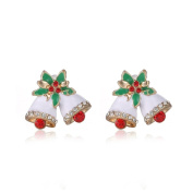 Sixcup® Christmas Gifts Fashion Small Bowknot Bell Earrings