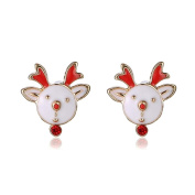 Sixcup®Christmas Deer Gifts Fashion Cute Animal Stud Earrings