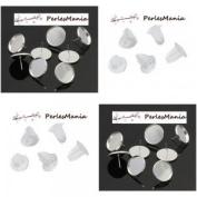 Pax 20 Quality Copper 18 mm Silver Heart Earrings & s1122491 Push 20