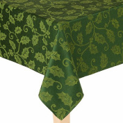 St Nicholas Square Rich Green Holly Tablecloth Fabric Table Cloth 60x102 Ob