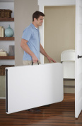 COSCO Deluxe 2.4m x 80cm Fold-in-Half Blow Moulded Folding Table, White