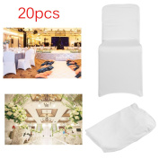 20 PCS Spandex Chair Covers Elasticated Chair Covers Comfortable Chair Cloth