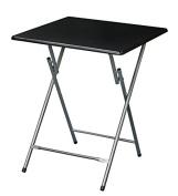 eHemco Extra Large Metal Folding Tv Tray/Table - Black Top