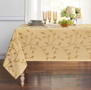 Regal Home Collections Madison Embroidered Tablecloth - Gold