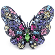 Multicolor Butterfly Brooch Pin