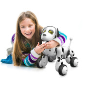 Hotsellhome New RC Smart Dog Sing Dance Walking Remote Control Robot Dog Electronic Pet Kids Educational Toy Funny Interactive Puppy Gift